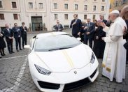 Pope Francis To Auction Lamborghini He Just Got