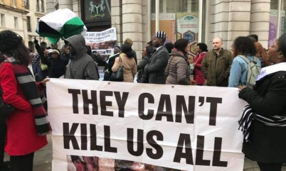UK Based Nigerians March To 10 Downing Street Over Benue Killings