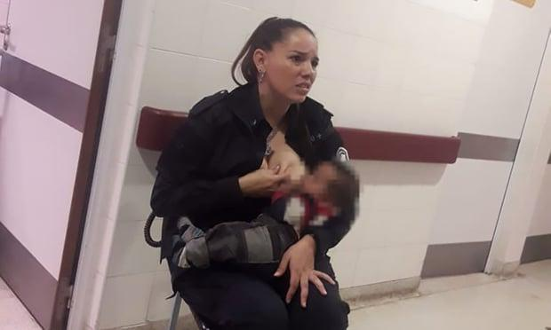 Argentine Police Woman Promoted For Breastfeeding Baby