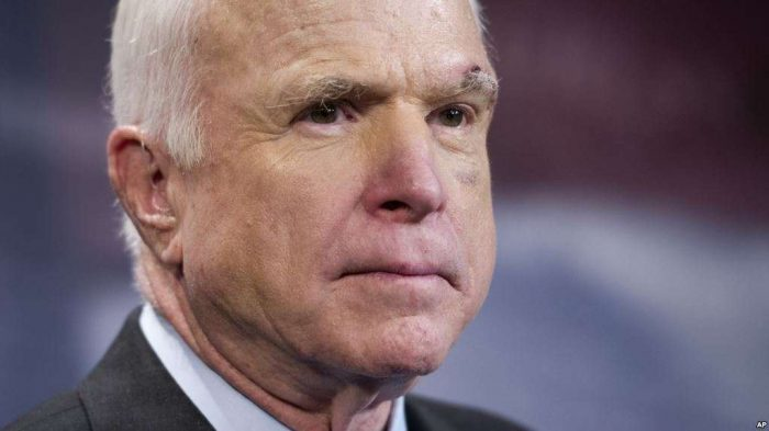US Senator, War Hero John McCain Has Died