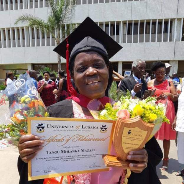 73 Year Old Zambian Gets Master's Degree
